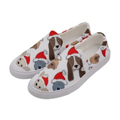 Christmas Puppies Women s Canvas Slip Ons by allthingseveryone