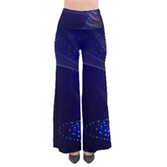 Christmas Tree Blue Stars Starry Night Lights Festive Elegant Pants by yoursparklingshop