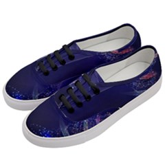 Christmas Tree Blue Stars Starry Night Lights Festive Elegant Women s Classic Low Top Sneakers by yoursparklingshop