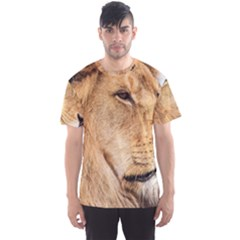 Big Male Lion Looking Right Men s Sports Mesh Tee