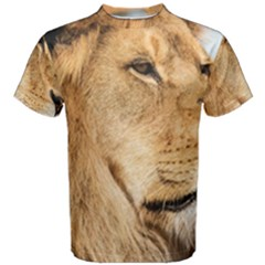 Big Male Lion Looking Right Men s Cotton Tee by Ucco