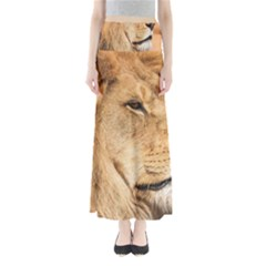 Big Male Lion Looking Right Full Length Maxi Skirt