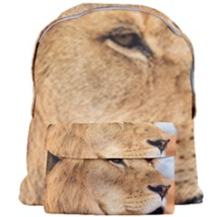 Big Male Lion Looking Right Giant Full Print Backpack by Ucco