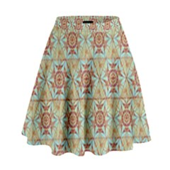 Hexagon Tile Pattern 2 High Waist Skirt by Cveti