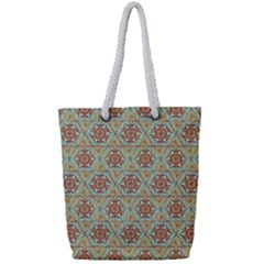 Hexagon Tile Pattern 2 Full Print Rope Handle Bag (small) by Cveti