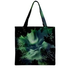 Northern Lights In The Forest Grocery Tote Bag by Ucco