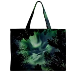 Northern Lights In The Forest Mini Tote Bag by Ucco