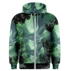 Northern Lights In The Forest Men s Zipper Hoodie