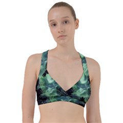 Northern Lights In The Forest Sweetheart Sports Bra