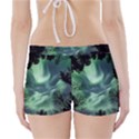 Northern lights in the forest Boyleg Bikini Wrap Bottoms View2