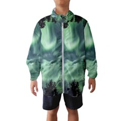 Northern Lights In The Forest Wind Breaker (kids)