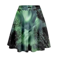 Northern Lights In The Forest High Waist Skirt by Ucco