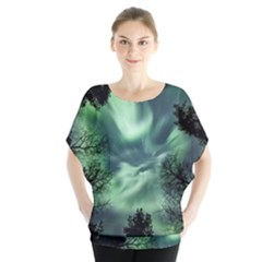 Northern Lights In The Forest Blouse