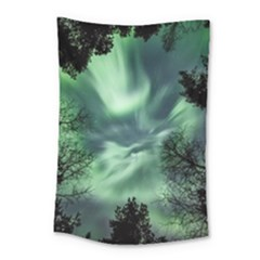 Northern Lights In The Forest Small Tapestry by Ucco
