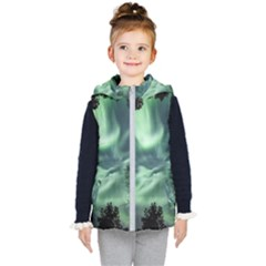 Northern Lights In The Forest Kid s Puffer Vest