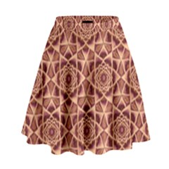 Flower Star Pattern  High Waist Skirt by Cveti