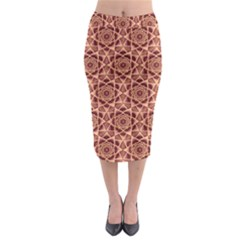 Flower Star Pattern  Midi Pencil Skirt by Cveti