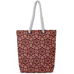 Flower Star Pattern  Full Print Rope Handle Bag (small) by Cveti