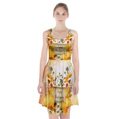 Happy Thanksgiving With Pumpkin Racerback Midi Dress