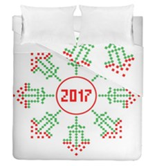 Snowflake Graphics Date Year Duvet Cover Double Side (queen Size) by Celenk