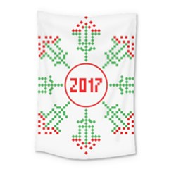 Snowflake Graphics Date Year Small Tapestry by Celenk