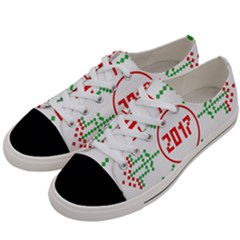 Snowflake Graphics Date Year Women s Low Top Canvas Sneakers by Celenk