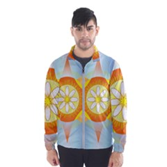 Star Pattern Background Wind Breaker (men)
