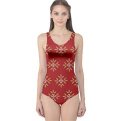 Pattern Background Holiday One Piece Swimsuit