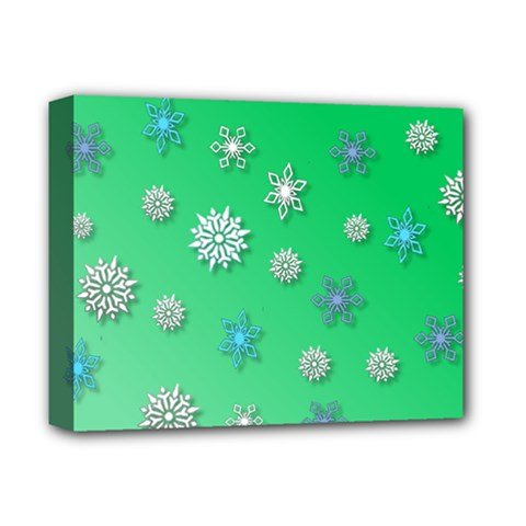 Snowflakes Winter Christmas Overlay Deluxe Canvas 14  X 11  by Celenk