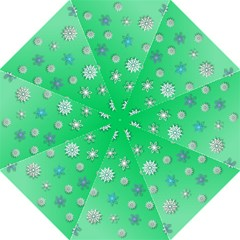 Snowflakes Winter Christmas Overlay Hook Handle Umbrellas (large) by Celenk