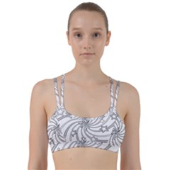 Star Christmas Pattern Texture Line Them Up Sports Bra by Celenk