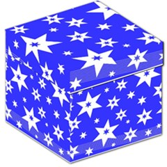 Star Background Pattern Advent Storage Stool 12   by Celenk