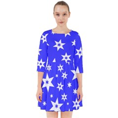 Star Background Pattern Advent Smock Dress by Celenk