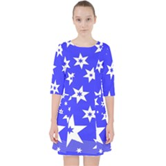 Star Background Pattern Advent Pocket Dress by Celenk