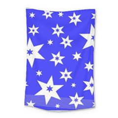 Star Background Pattern Advent Small Tapestry