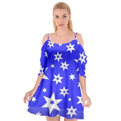 Star Background Pattern Advent Cutout Spaghetti Strap Chiffon Dress by Celenk