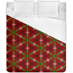 Textured Background Christmas Pattern Duvet Cover (california King Size) by Celenk
