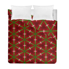Textured Background Christmas Pattern Duvet Cover Double Side (full/ Double Size) by Celenk