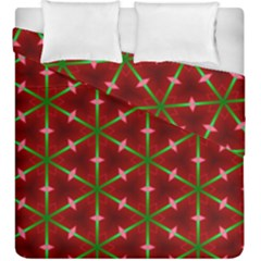 Textured Background Christmas Pattern Duvet Cover Double Side (king Size) by Celenk