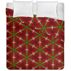 Textured Background Christmas Pattern Duvet Cover Double Side (california King Size)