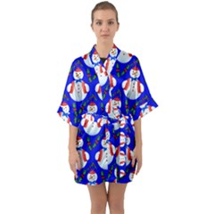Seamless Repeat Repeating Pattern Quarter Sleeve Kimono Robe by Celenk