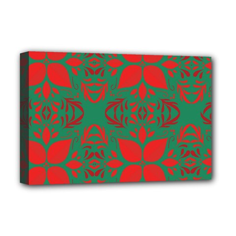 Christmas Background Deluxe Canvas 18  X 12   by Celenk