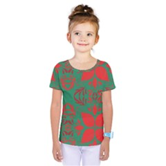 Christmas Background Kids  One Piece Tee