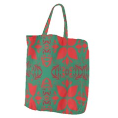 Christmas Background Giant Grocery Zipper Tote by Celenk