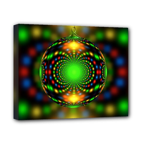 Christmas Ornament Fractal Canvas 10  X 8  by Celenk