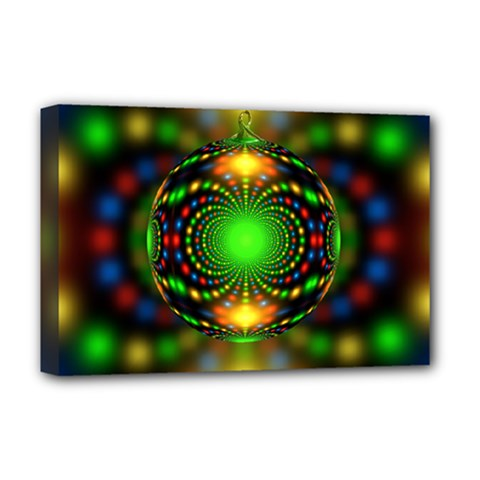 Christmas Ornament Fractal Deluxe Canvas 18  X 12   by Celenk