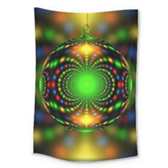 Christmas Ornament Fractal Large Tapestry
