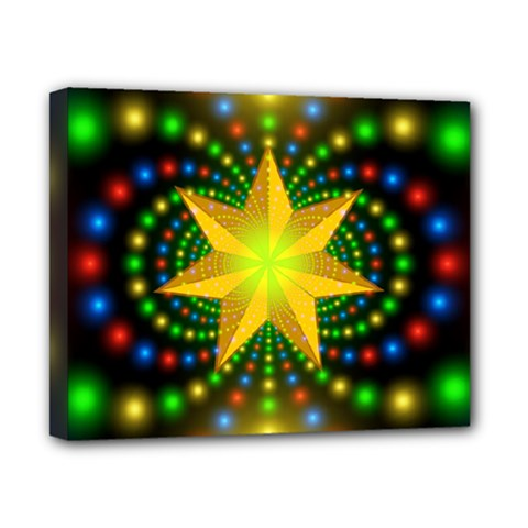 Christmas Star Fractal Symmetry Canvas 10  X 8  by Celenk