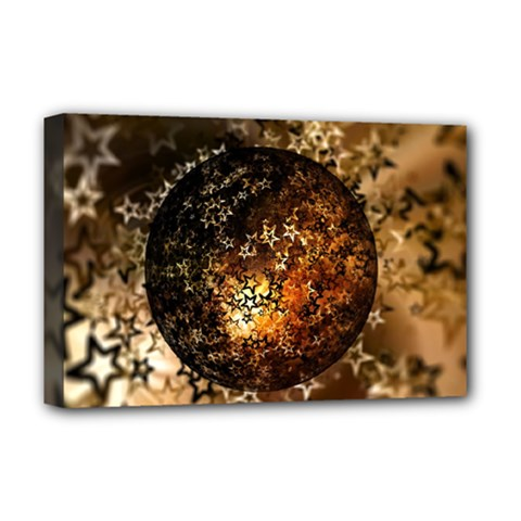 Christmas Bauble Ball About Star Deluxe Canvas 18  X 12   by Celenk