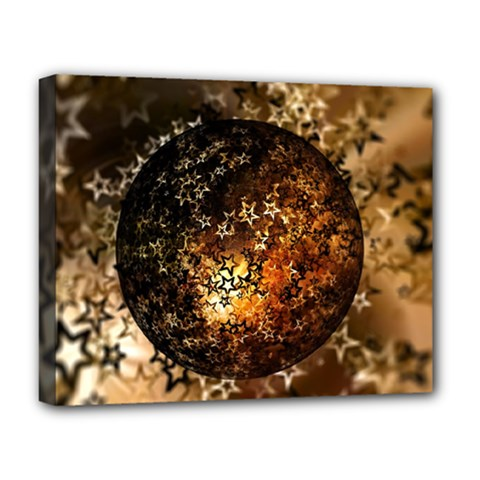 Christmas Bauble Ball About Star Deluxe Canvas 20  X 16   by Celenk